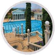 Hearst Castle Neptune Pool Round Beach Towel