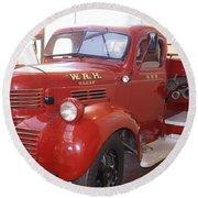 Hearst Fire Truck Round Beach Towel