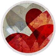 Hearts 8 Square Round Beach Towel