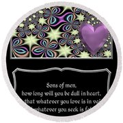 Heart And Love Design 14 With Bible Quote Round Beach Towel