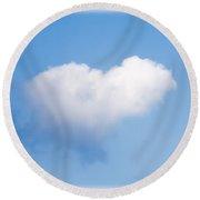 Heart Cloud Round Beach Towel