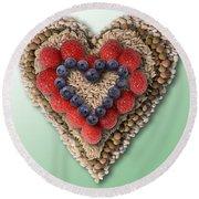 Heart-healthy Foods Round Beach Towel
