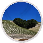Heart Hill Paso Robles Round Beach Towel by Jason O Watson