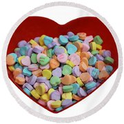 Heart Of Hearts Round Beach Towel