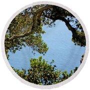 Heart Of Nepenthe - Big Sur Round Beach Towel