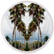 Heart Of Palms Round Beach Towel