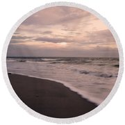Heart Of The Evening Round Beach Towel