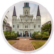 Heart Of The French Quarter Round Beach Towel