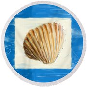 Heart Of The Sea Round Beach Towel by Lourry Legarde