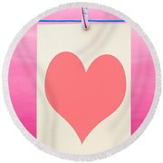 Heart Round Beach Towel