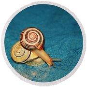 Heart Snails Round Beach Towel