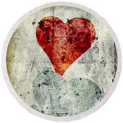 Hearts 1 Round Beach Towel