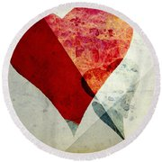 Hearts 6 Square Round Beach Towel