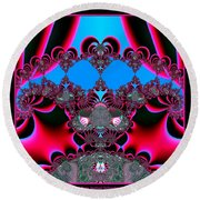 Hearts Ballet Curtain Call Fractal 121 Round Beach Towel