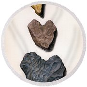 Hearts Rock Round Beach Towel