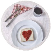 Hearty Toast Round Beach Towel