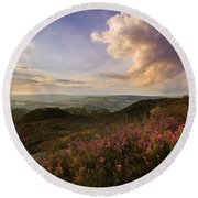 Heather Sunset Round Beach Towel