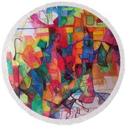 Heaven And Earth 1 Round Beach Towel