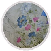 Heaven And Earth A Round Beach Towel