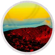 Heaven And Earth Round Beach Towel