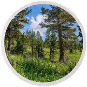 Heaven In The High Country Round Beach Towel
