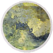 Heavenly Clouds Abstract Round Beach Towel