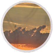 Heavenly Clouds Round Beach Towel