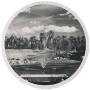 Heavenly Round Beach Towel