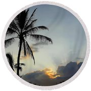 Heavenly Rays Round Beach Towel