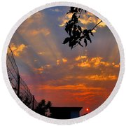 Heavenly Rays Two Round Beach Towel