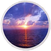 Heavenly Sunset Round Beach Towel