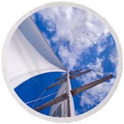 Heavenly Uncharted Round Beach Towel