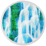 Heavenly Veil Round Beach Towel