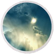 Heavens After The Rain II Round Beach Towel