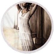 Heaven's Angel Round Beach Towel by Richard Young