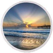 Heaven's Door Round Beach Towel