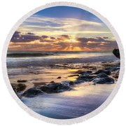 Heaven's Lights Round Beach Towel