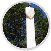 Heavenward Gaze - Sculpture - Lady Round Beach Towel