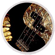 Heavy Metal Bass Round Beach Towel
