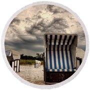 Heavy Times Round Beach Towel