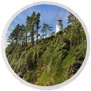 Heceta Head Lighthouse 1 A Round Beach Towel