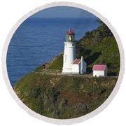 Heceta Head Lighthouse 2 G Round Beach Towel