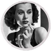 Hedy Lamarr - Beauty And Brains Round Beach Towel