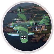 Heinkel He 115 Round Beach Towel