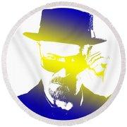 Heisenberg-3 Round Beach Towel