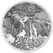 Come To Colorado And Fall In Love With Winter  Round Beach Towel