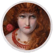 Helen Of Troy Round Beach Towel by Anthony Frederick Augustus Sandys