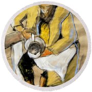 Helene #11 - Figure Series Round Beach Towel