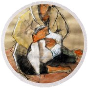 Helene #13 - Figure Series Round Beach Towel