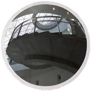 Helical Staircase Round Beach Towel